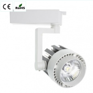30 W 2.400 Lm LED spotlight for single-phase track