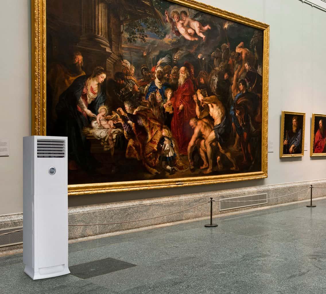 Deshumidificador en museos