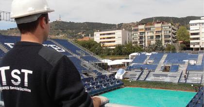 TST se ocupa un año más de la instalación eléctrica, la climatización e iluminación del Trofeo Godó 2012
