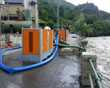 Las Bombas de agua TST participan en los trabajos de emergencias por las lluvias torrenciales en el Pirineo