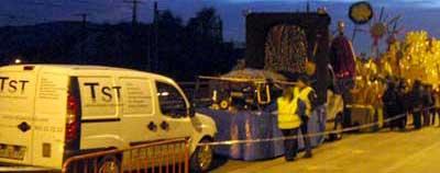 TST Servicios instala los grupos electrógenos de alquiler para los Reyes Magos de Mollet V. (Barcelona)