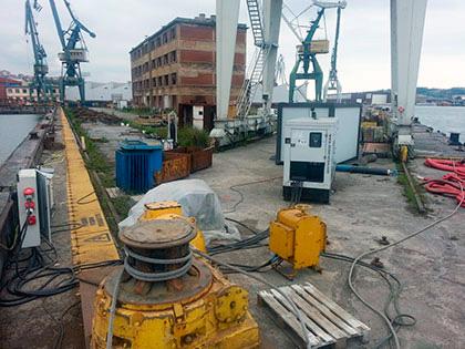 Alquiler de bombas de agua para el puerto naval de bilbao for Alquiler de bombas de agua