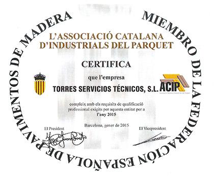Somos miembros de la Federación española de pavimentos de madera
