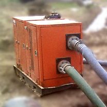 Alquiler de motobombas para transferencia de aguas cargadas a gran altura