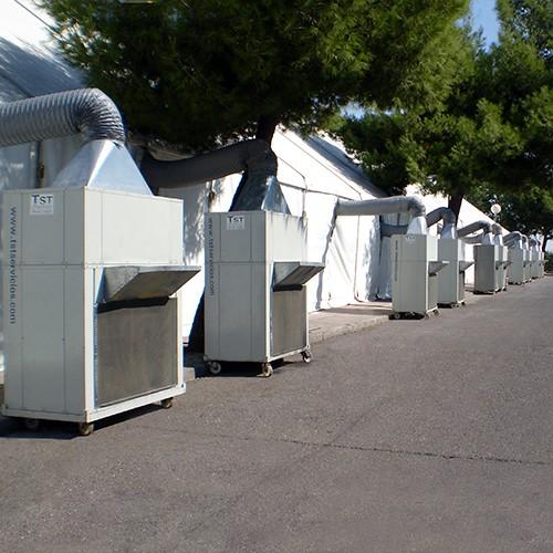 Alquiler de equipos autónomos de aire acondicionado - aire acondicionado carpa grande