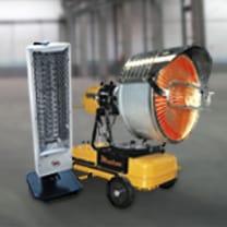 Alquiler de calefactores por rayos infrarrojos