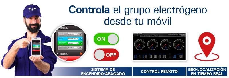 Opción de centralita para el control remoto de los grupos electrógenos.
