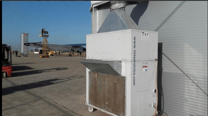 Alquiler de aire acondicionado para el avión Solar Impulse