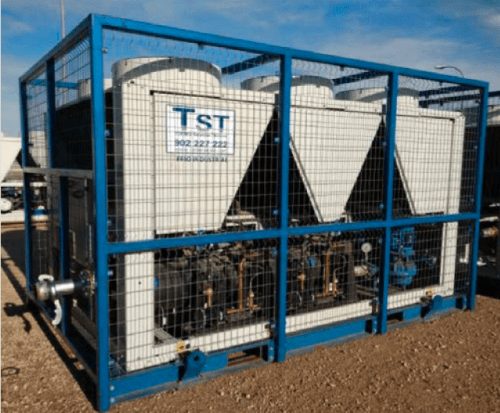 Rental of water chillers only cold 326 kw