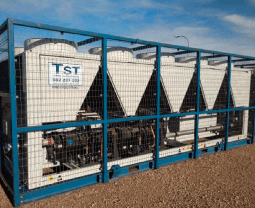 Rental of water chillers 508 KW only cold