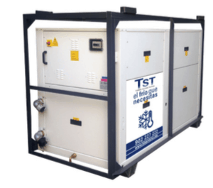 Rent of water chiller with heat pump - air / water 50 KW