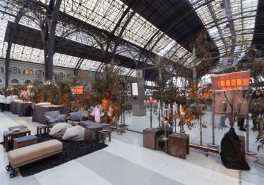 Boda con glamour en la Estación de Francia de Barcelona