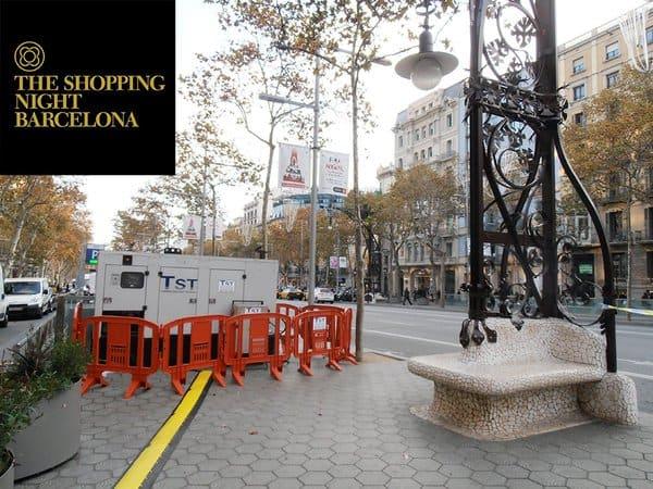 Generadores de energía y cuadros eléctricos en el Shopping night de Barcelona