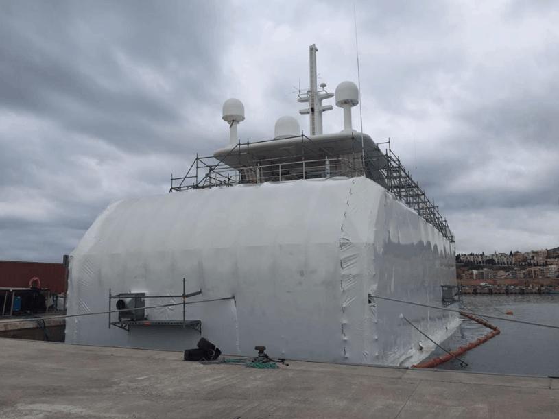 Alquiler de ventiladores y secadores para tareas de mantenimiento de barcos