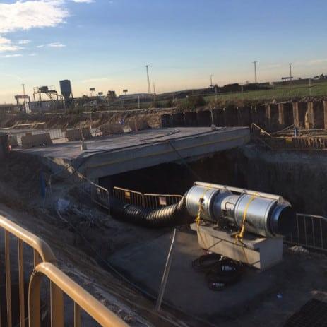 ventilador para túneles