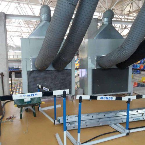 Aire acondicionado en pabellón de deportes campeonato del mundo de gimnasia rítmica en Guadalajara