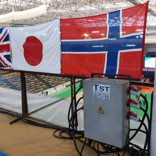 Cuadro eléctrico de protección en campeonato del mundo de gimnasia rítmica en Guadalajara