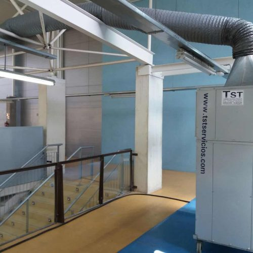 Equipo climatización pabellón deportivo TST campeonato del mundo de gimnasia rítmica en Guadalajara