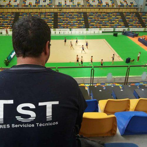 Climatización del campeonato del mundo de gimnasia rítmica en Guadalajara