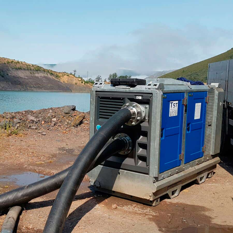 Motobombas de agua insonorizada de gran altura MD130-90 60HP 3″