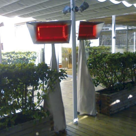 Estufas de infrarrojos en terrazas