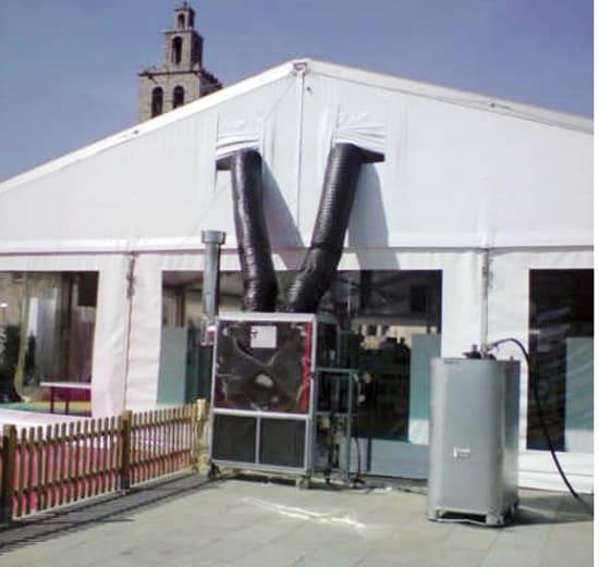 Calefacción H-160KW en carpas