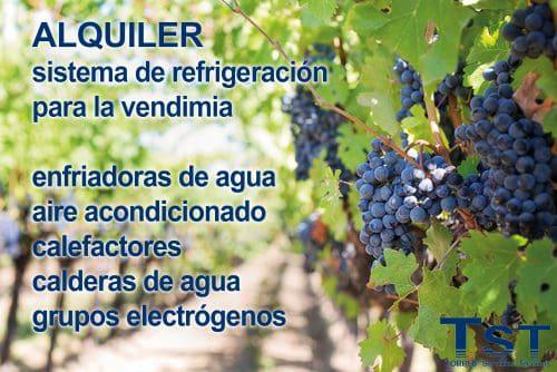 Alquiler sistemas de refrigeración para la vendimia y bodegas