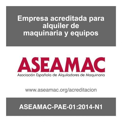 Asemac - Empresa acreditada para alquiler de maquinaria y equipos