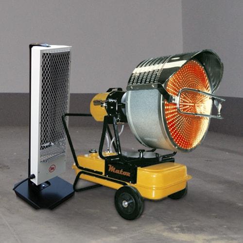 Calefactores por rayos infrarrojos
