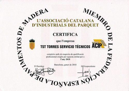 Miembro de la federación española de pavimentos de madera