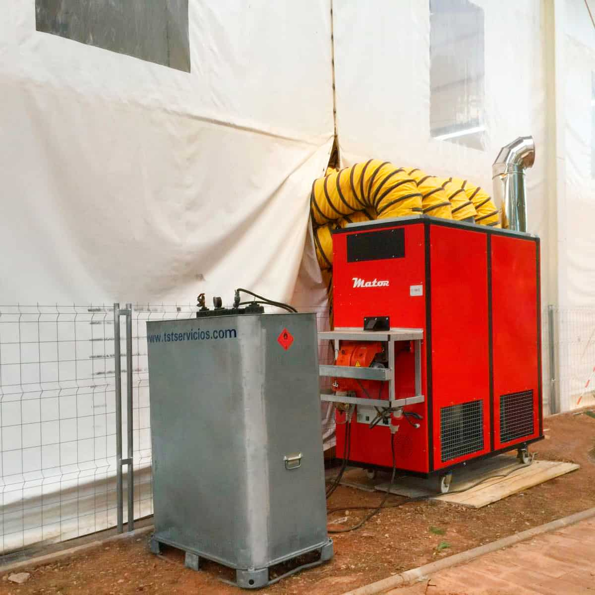 Generador de 400 KW para eventos