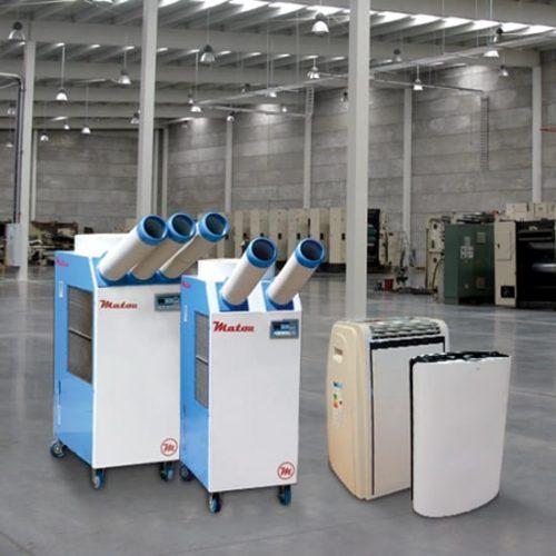 Equipos portátiles de aire acondicionado y Spot Coolers