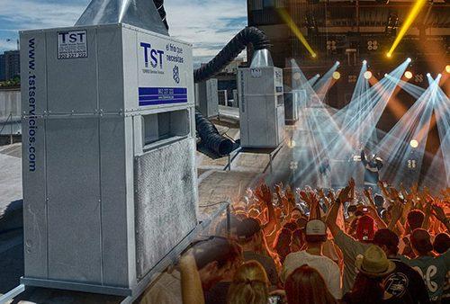 Climatización TST con aire acondicionado en salas de fiestas Barcelona