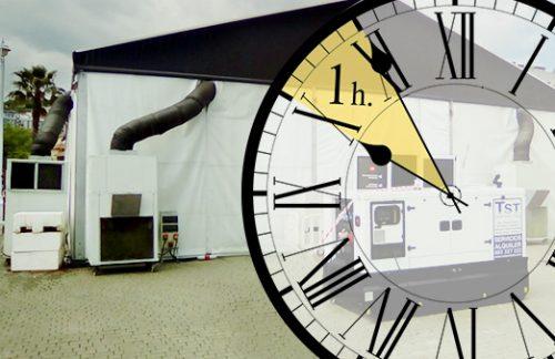 ¿Qué valor tiene que tu EVENTO se climatice en menos de 1 hora?