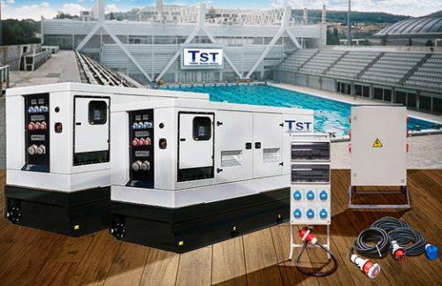 Instalación de potencia eléctrica para el campeonato europeo de waterpolo en piscinas Bernat Picornell