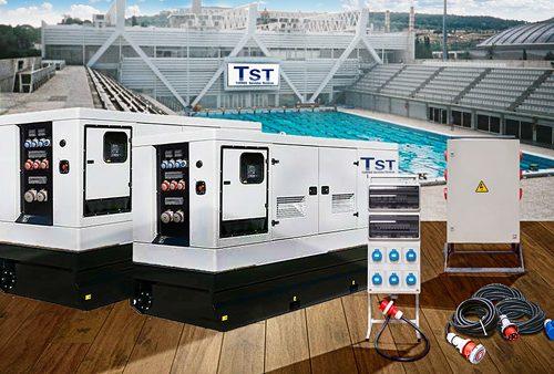 Instalación de potencia eléctrica en piscinas Bernat Picornell
