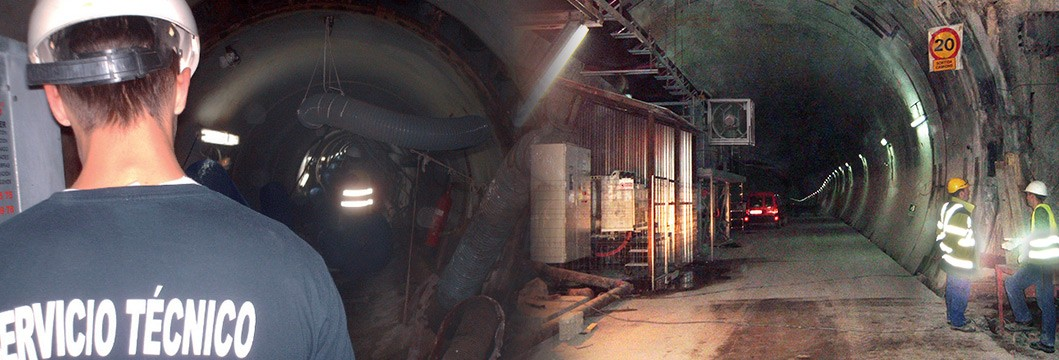 aire en túneles