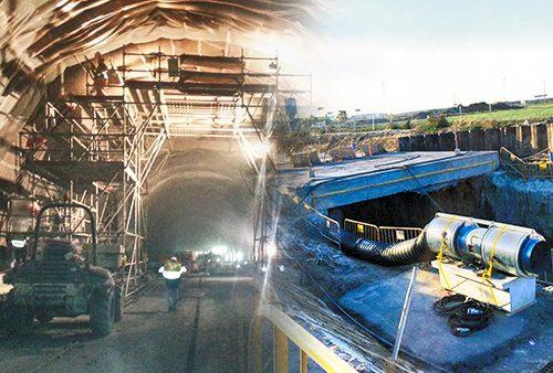 TST renovando aire en túneles