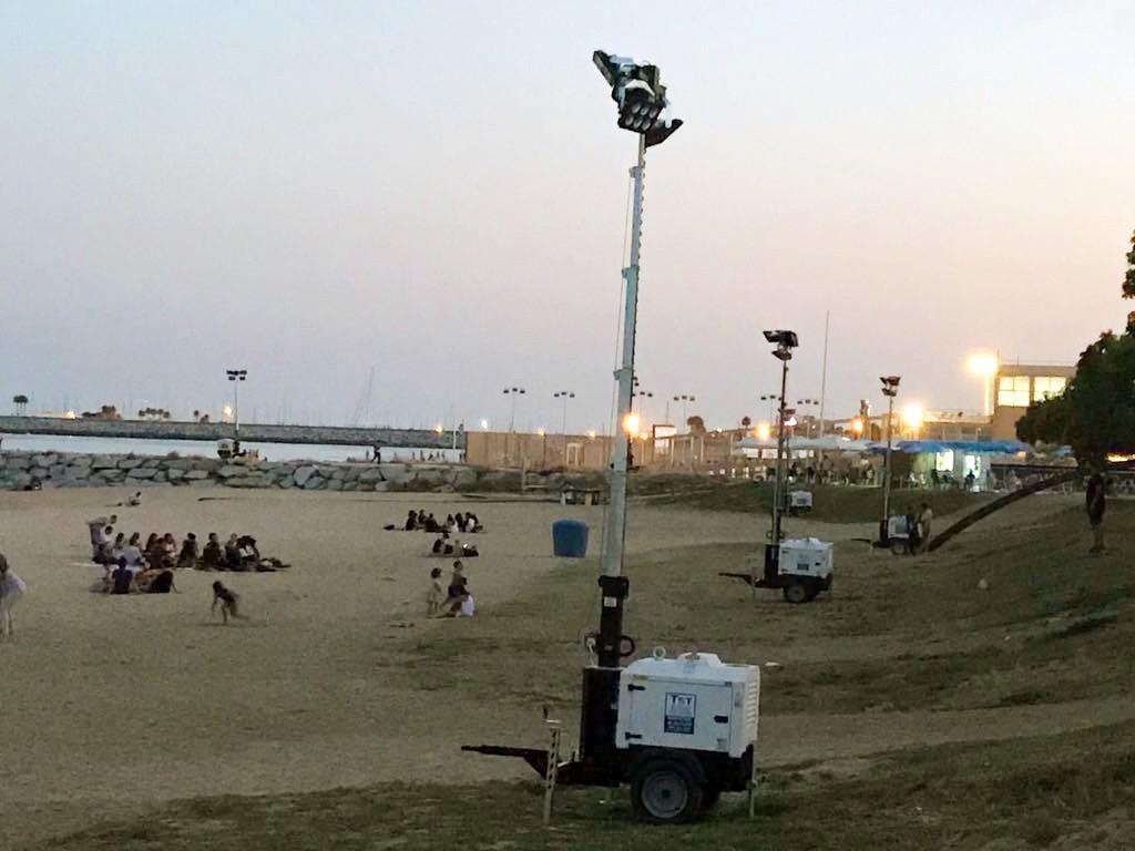 Torres de iluminación para eventos nocturnos
