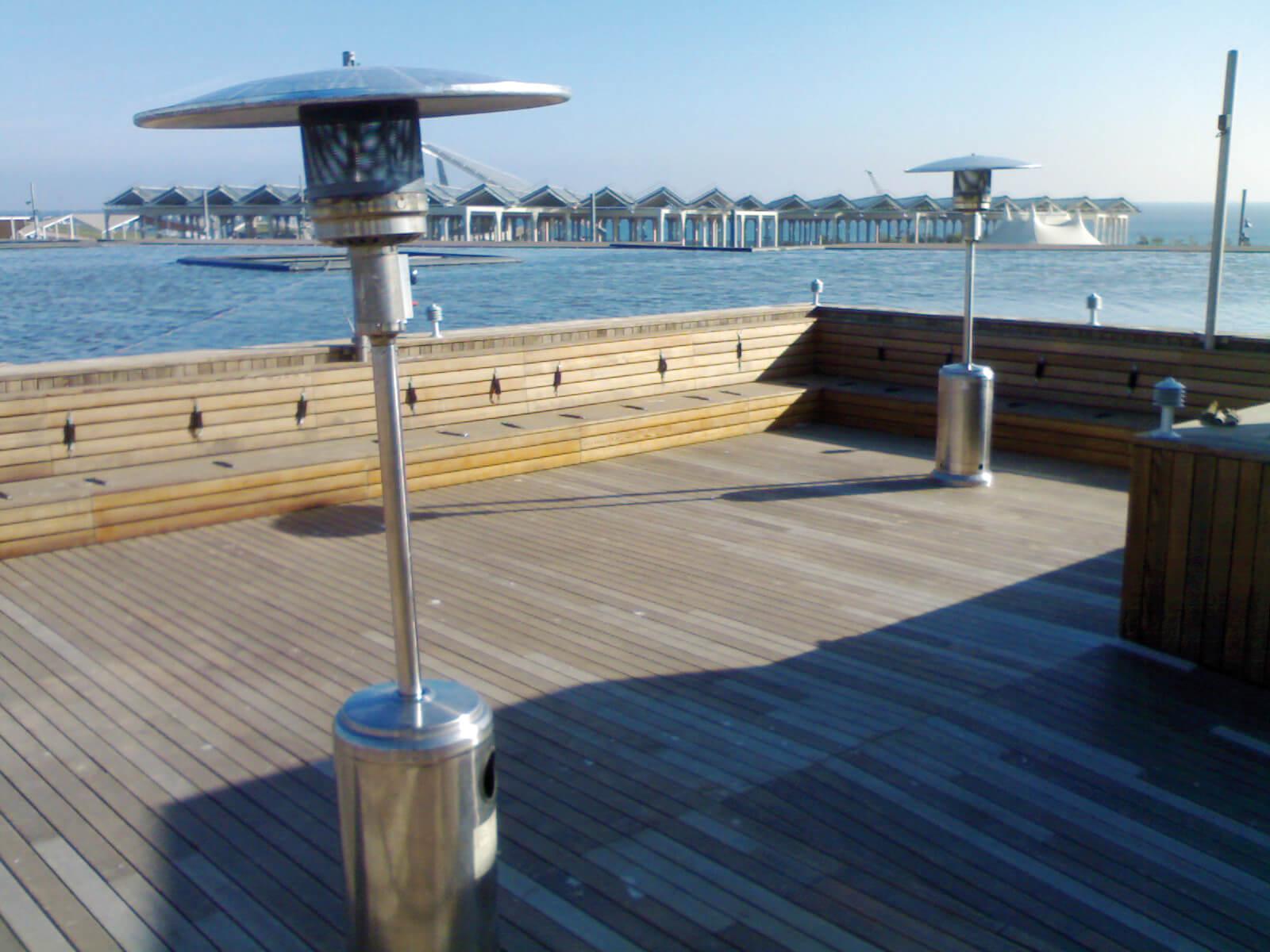 calefacción rayos infrarrojos para terrazas
