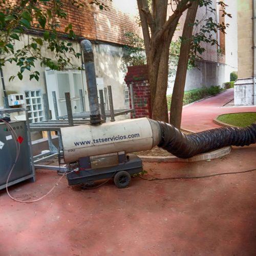 Generador de aire caliente climatización