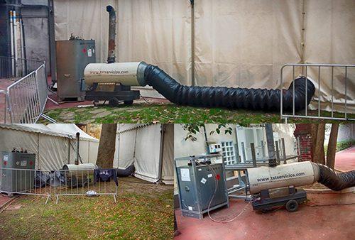 Calefacción de carpas para el Athletic Club Bilbao.