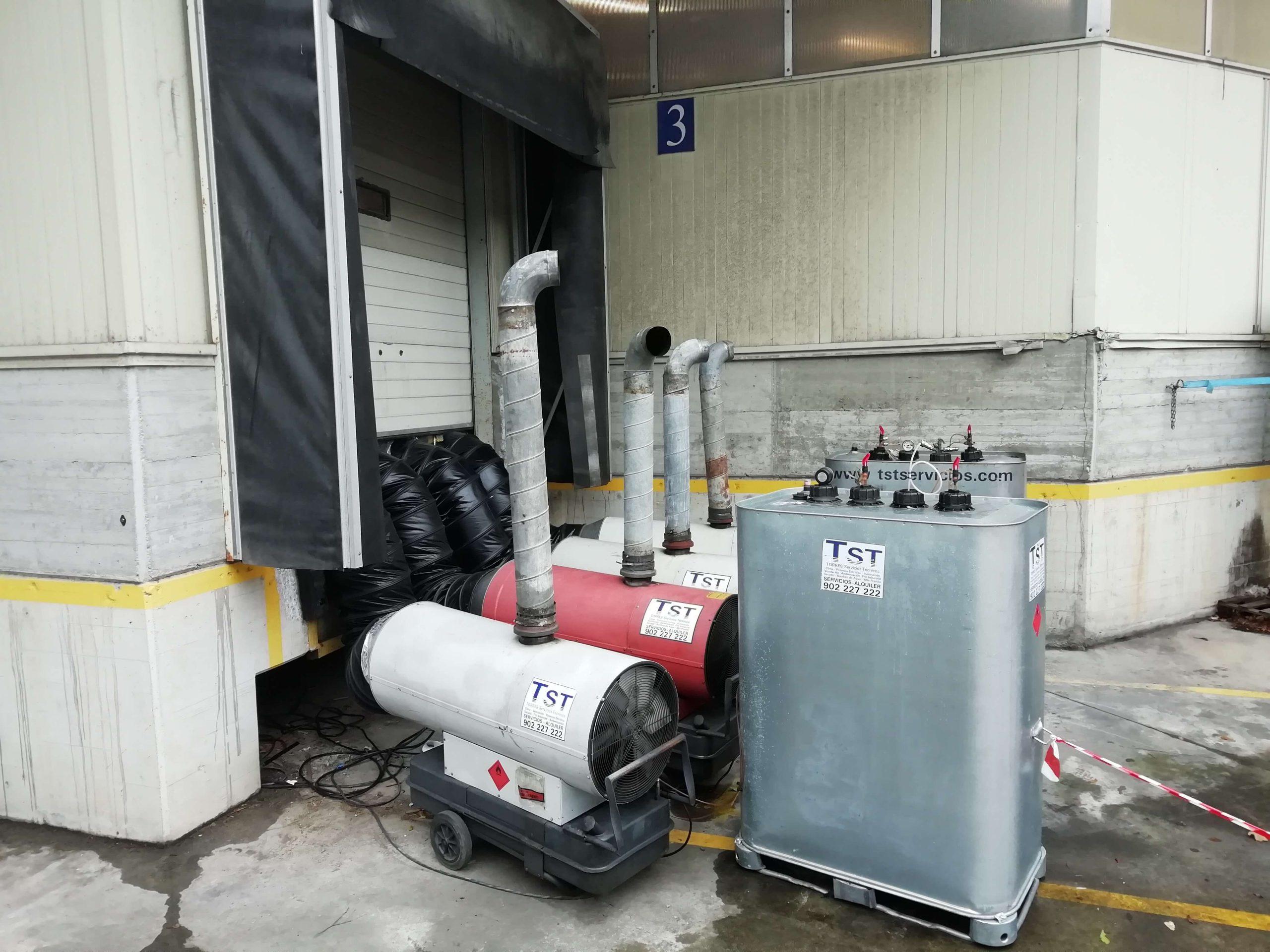 Generador de aire caliente con deposito nodriza