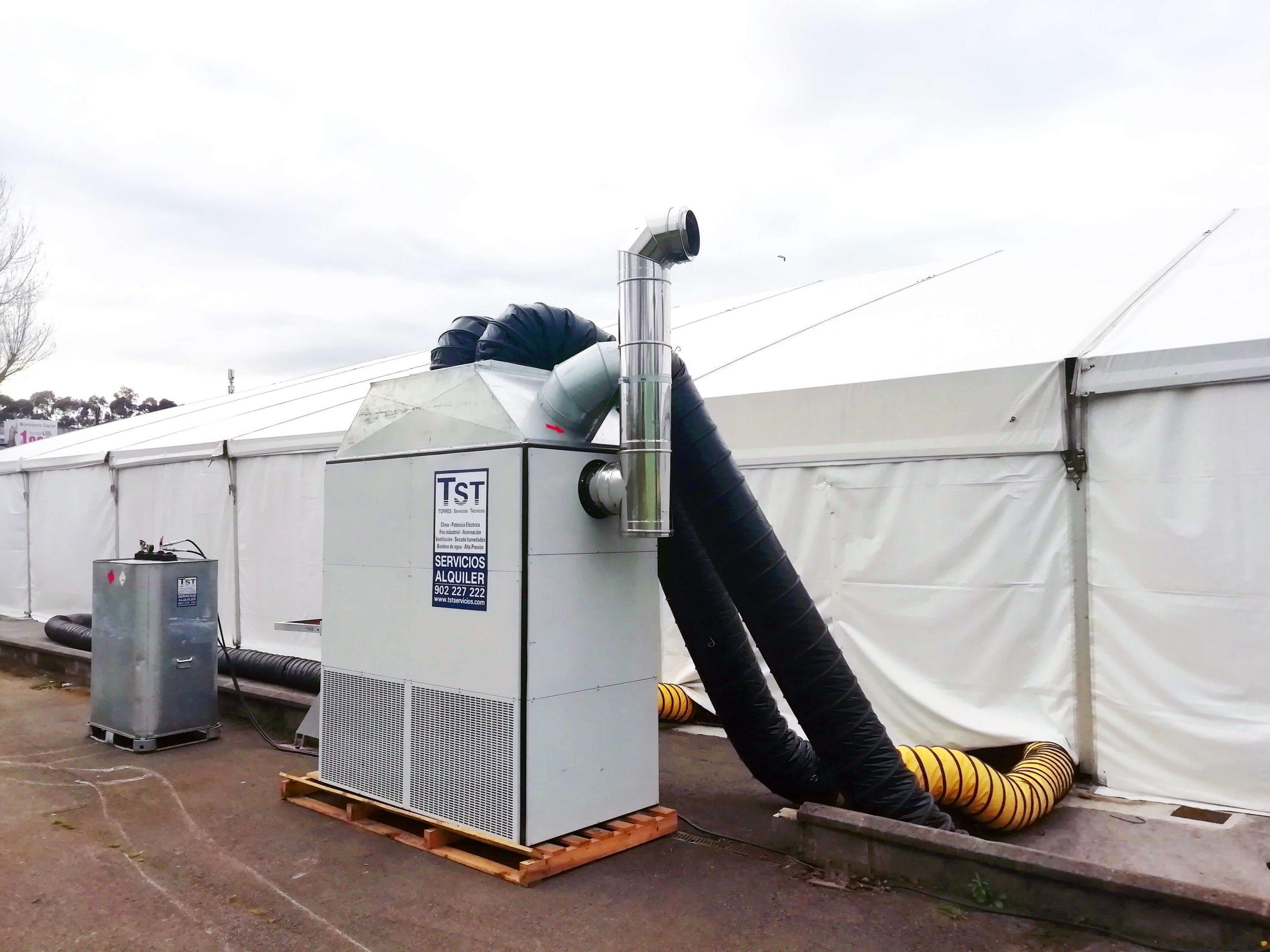 Hércules 400 kw 4 salidas para calefacción