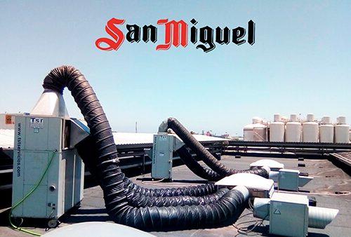 Instalacion de frio en la fábrica San Miguel de Málaga