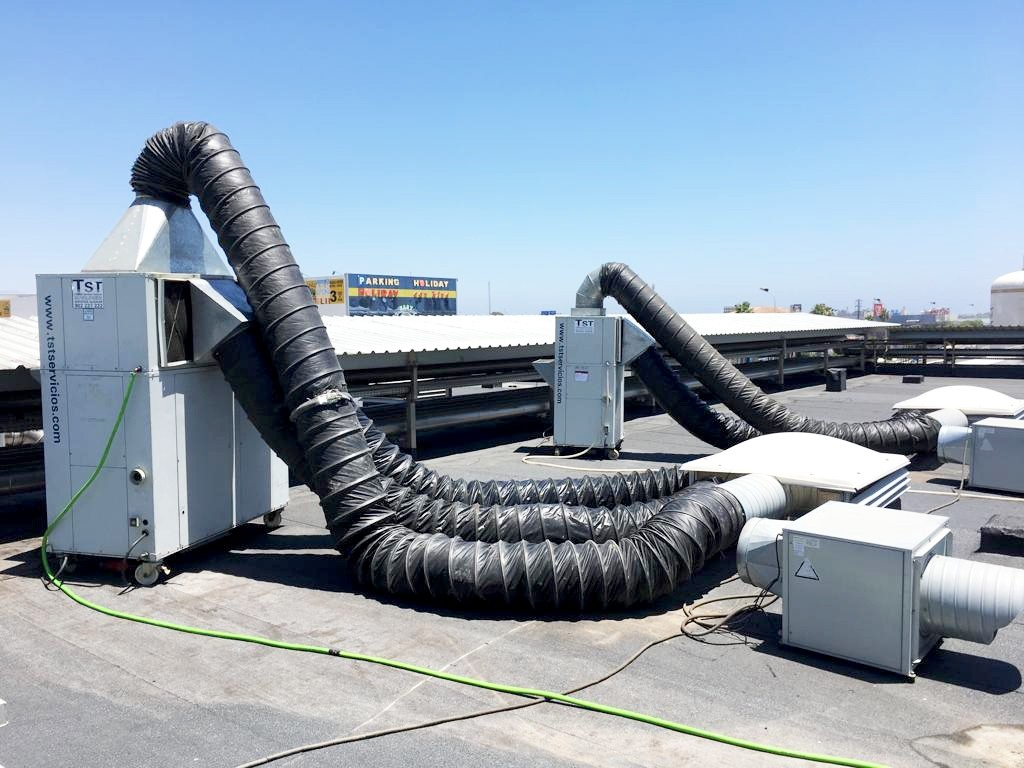 Instalacion de frio en cubierta fábrica San Miguel general