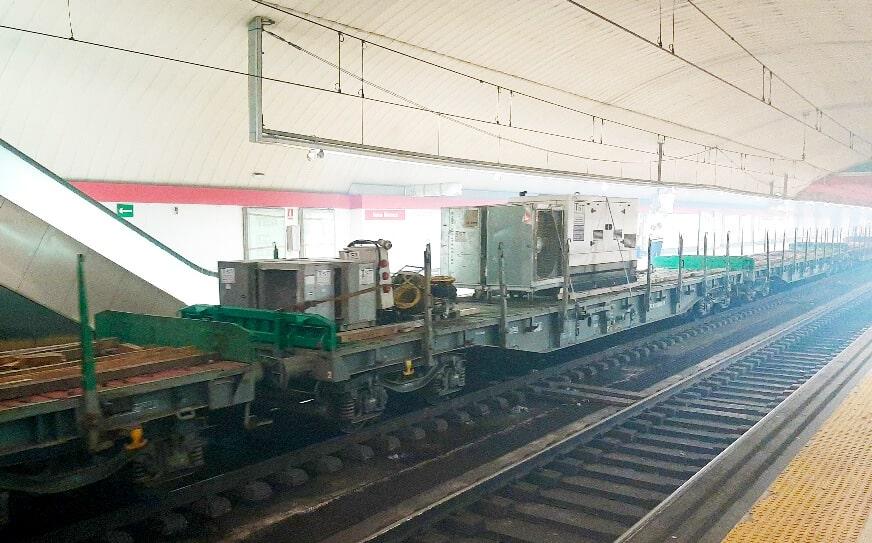 Andana obras de remodelación túnel Madrid