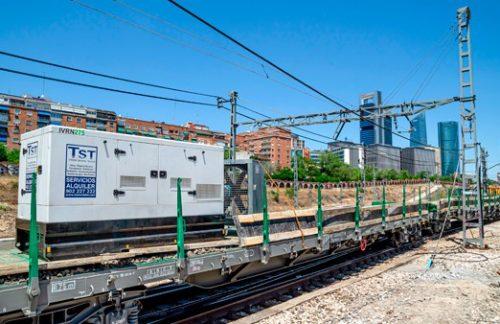 Ventilación forzada y potencia eléctrica en línea de cercanías de Madrid