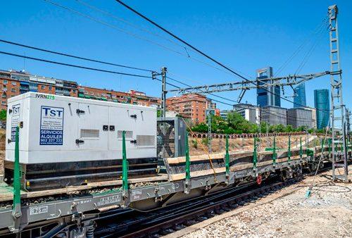 Exterior de las obras de remodelación tunel Madrid