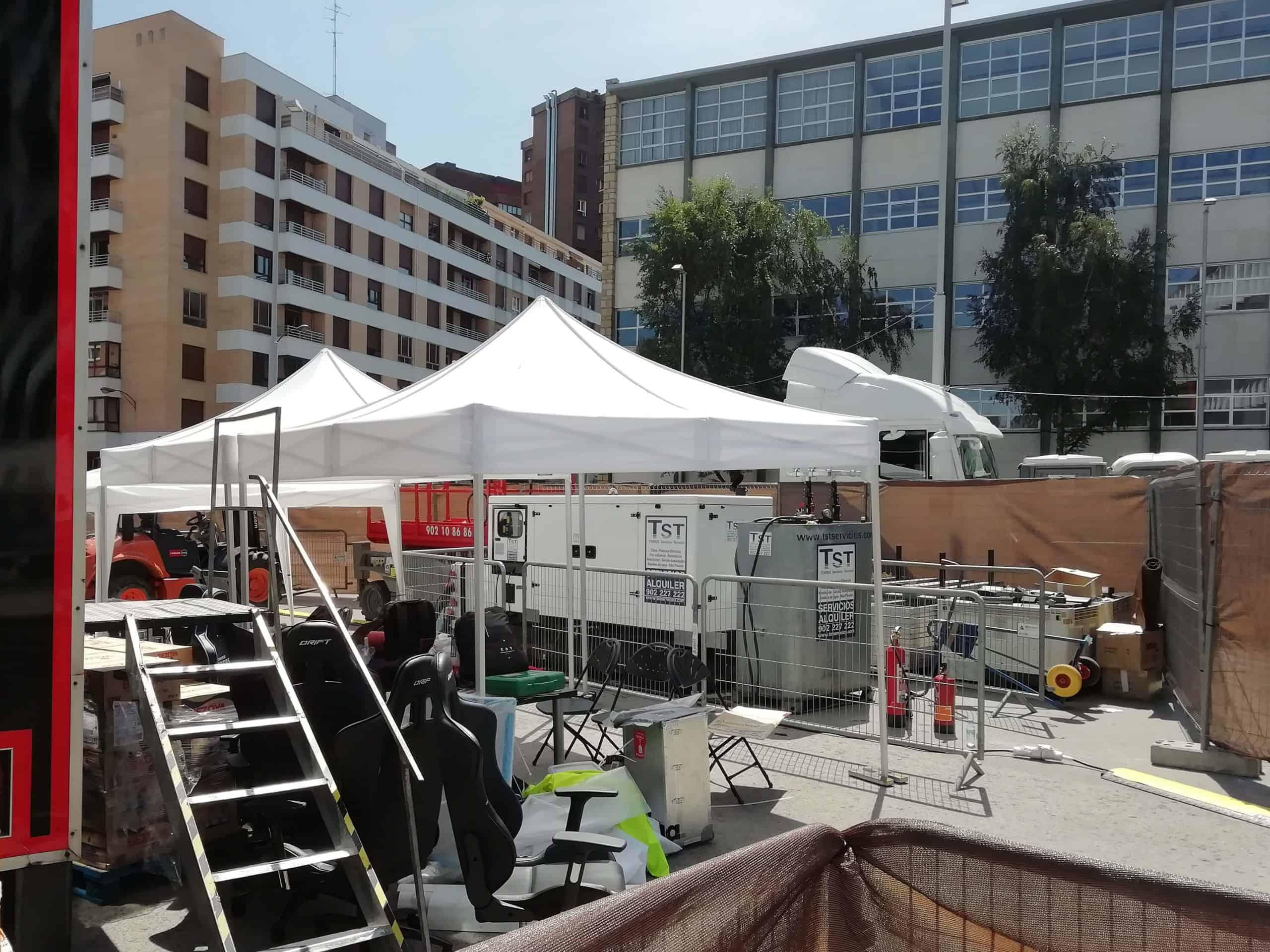 Alquiler generador de energía estadio San Mamés Bilbao